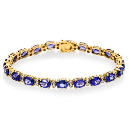 14 kt yellow gold bracelet with 40 diamonds