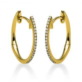 14 kt yellow gold hoops & huggies with 38 diamonds 2G854G4-1
