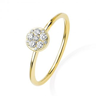 14 kt yellow gold illusion with 11 diamonds 1F402G456-1