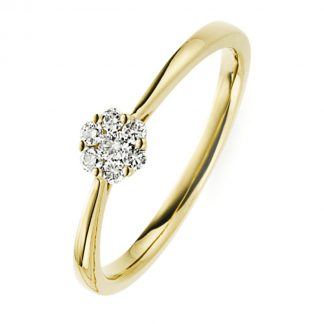 14 kt yellow gold illusion with 7 diamonds 1B785G456-1