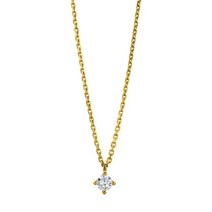 14 kt yellow gold necklace with 1 diamond 4A309G4-1