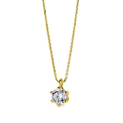 14 kt yellow gold necklace with 1 diamond 4A711G4-1
