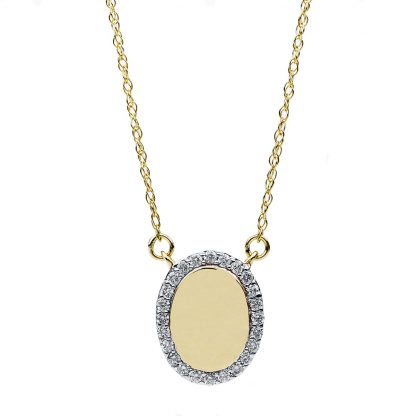 14 kt yellow gold necklace with 24 diamonds 4B477G4-1