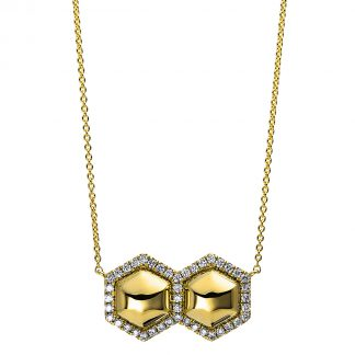 14 kt yellow gold necklace with 43 diamonds 4E117G4-1