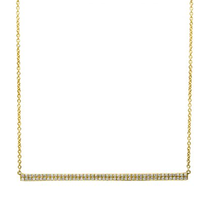 14 kt yellow gold necklace with 90 diamonds 4B034G4-1