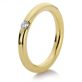 14 kt yellow gold solitaire with 1 diamond 1A043G456-1