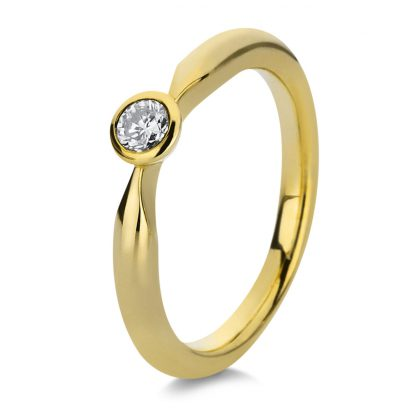 14 kt yellow gold solitaire with 1 diamond 1A063G454-1