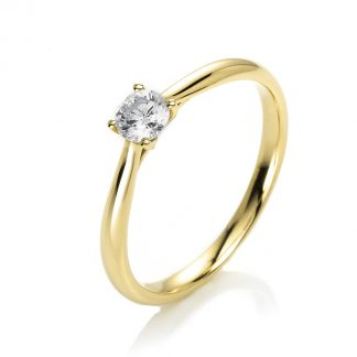 14 kt yellow gold solitaire with 1 diamond 1A290G453-3