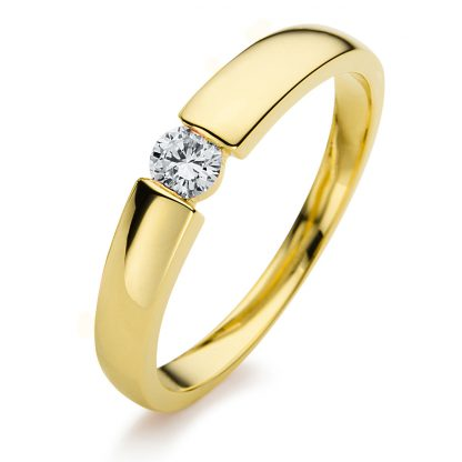 14 kt yellow gold solitaire with 1 diamond 1A396G452-2