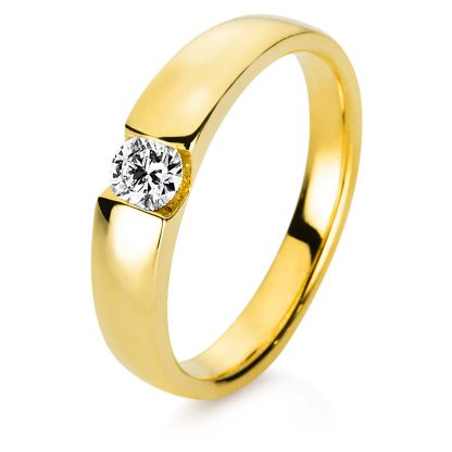 14 kt yellow gold solitaire with 1 diamond 1C449G453-1