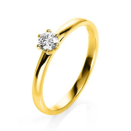 14 kt yellow gold solitaire with 1 diamond 1O324G453-1