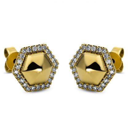 14 kt yellow gold studs with 48 diamonds 2H260G4-1