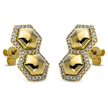 14 kt yellow gold studs with 86 diamonds 2H266G4-1