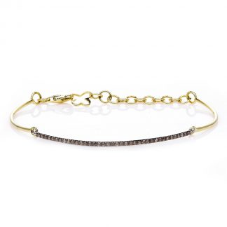 14 kt yellow gold / white gold bracelet with 38 diamonds 5A083GW4-1