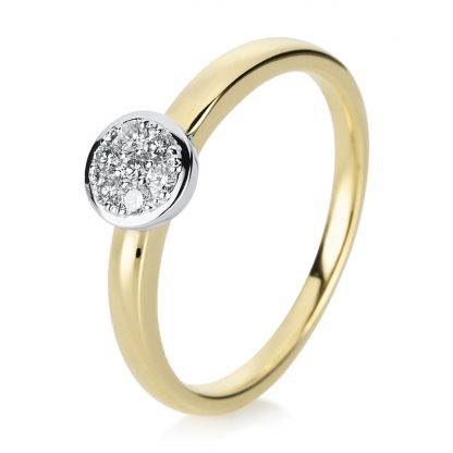 14 kt yellow gold / white gold illusion with 7 diamonds 1A296GW454-1