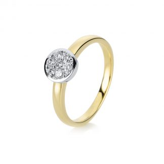14 kt yellow gold / white gold illusion with 7 diamonds 1A297GW454-1