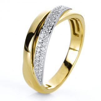 14 kt yellow gold / white gold multi stone with 46 diamonds 1G884GW456-1