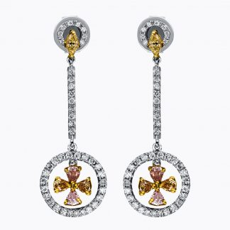 18 kt  earrings with 92 diamonds 2H001T8-1