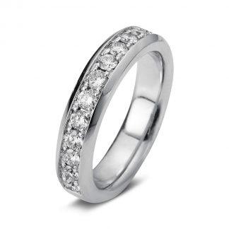 18 kt fehérarany félig köves eternity 13 gyémánttal 1A026W854-3