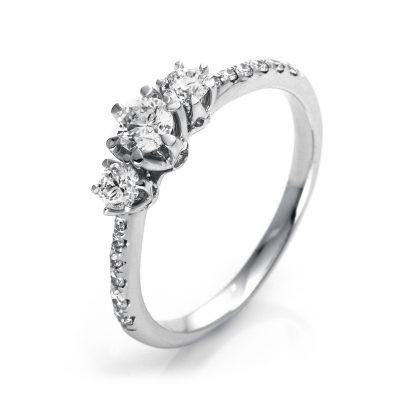 18 kt  multi stone with 15 diamonds 1O303WP853-1