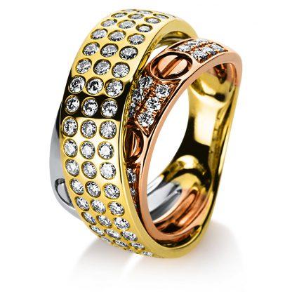 18 kt  multi stone with 75 diamonds 1B582T8535-1