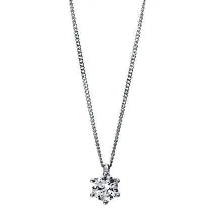 18 kt  necklace with 1 diamond 4E383WP8-2