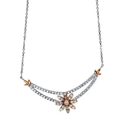 18 kt  necklace with 63 diamonds 4E207WR8-1