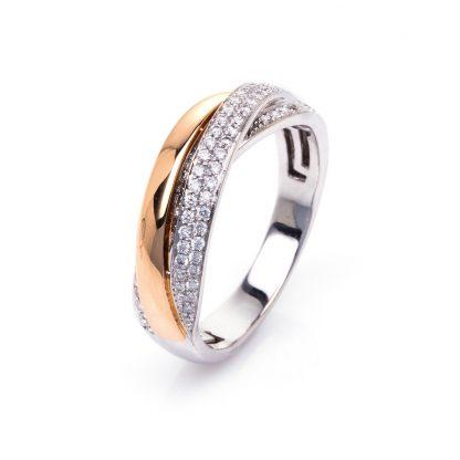 18 kt  pavé with 66 diamonds 1B996WR8535-1