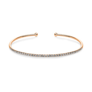 18 kt red gold bangle with 38 diamonds 6A262R8-3