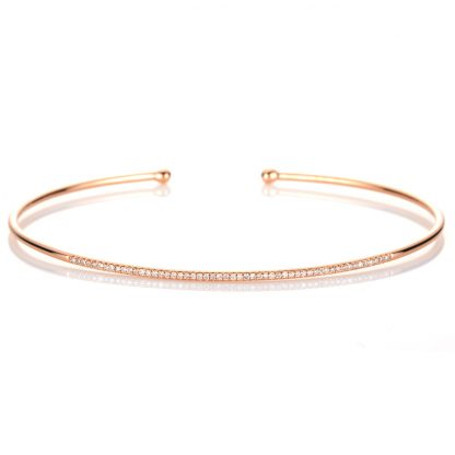 18 kt red gold bangle with 53 diamonds 6A008R8-1