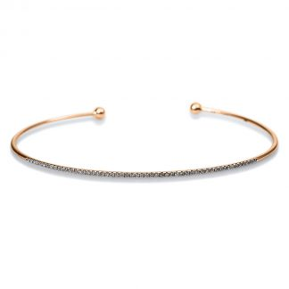 18 kt red gold bangle with 53 diamonds 6A348R8-2