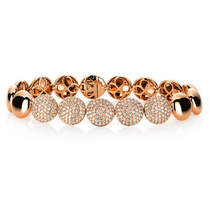 18 kt red gold bracelet with 295 diamonds 5A320R8-1