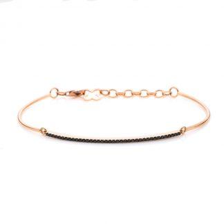 18 kt red gold bracelet with 38 diamonds 5A084R8-1