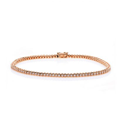 18 kt red gold bracelet with 94 diamonds 5A598R8-2