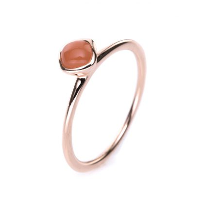 18 kt red gold color stone with 1 color stone 1B323R8535-1