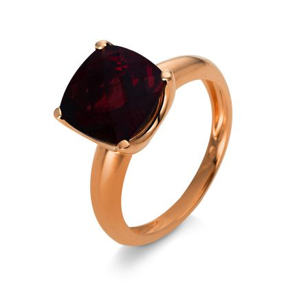18 kt red gold color stone with 1 color stone 1S156R855-1