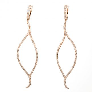 18 kt red gold earrings with 442 diamonds 2C647R8-2