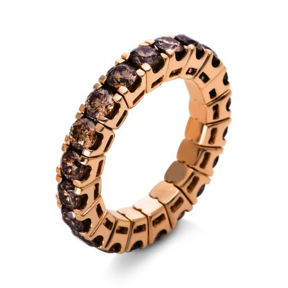 18 kt red gold eternity full with 20 diamonds 1N546R853-1