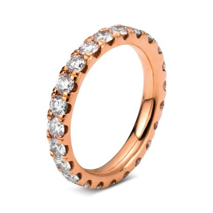 18 kt red gold eternity full with 23 diamonds 1C308R854-1