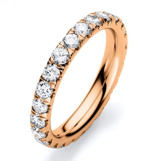 18 kt red gold eternity full with 24 diamonds 1C307R854-1