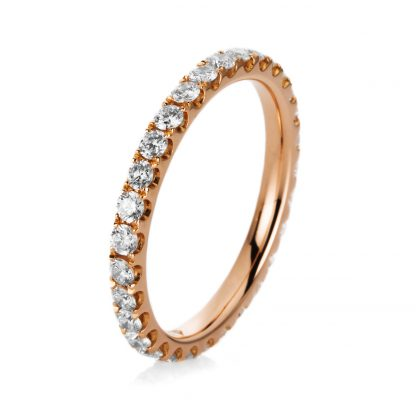 18 kt red gold eternity full with 30 diamonds 1A912R854-14