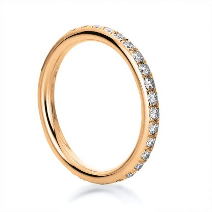 18 kt red gold eternity full with 30 diamonds 1B825R853-1