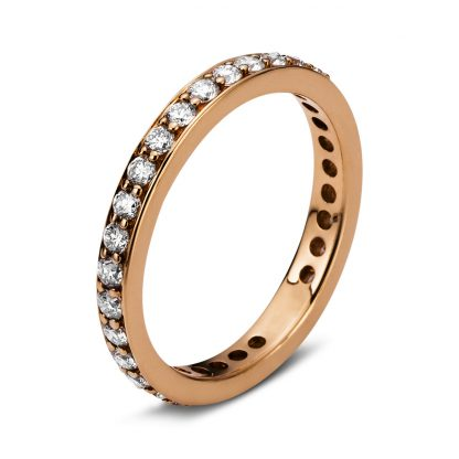 18 kt red gold eternity full with 32 diamonds 1B893R854-1