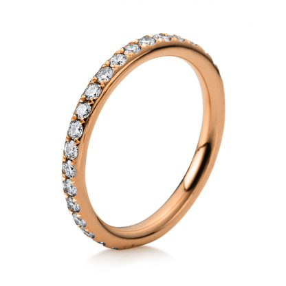18 kt red gold eternity full with 33 diamonds 1B826R853-1