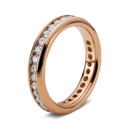 18 kt red gold eternity full with 33 diamonds 1B874R854-1