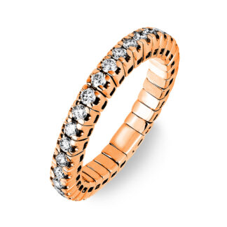 18 kt red gold eternity full with 33 diamonds 1J196R853-1
