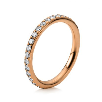 18 kt red gold eternity full with 35 diamonds 1B827R853-1