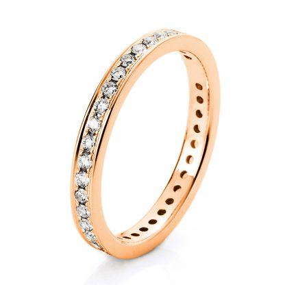 18 kt red gold eternity full with 37 diamonds 1A474R853-1