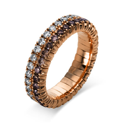 18 kt red gold eternity full with 66 diamonds 1N702R853-4