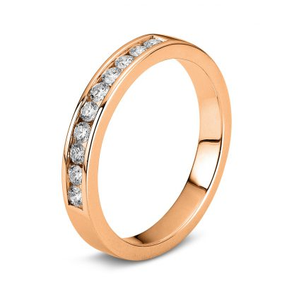 18 kt red gold eternity half with 10 diamonds 1B867R855-1